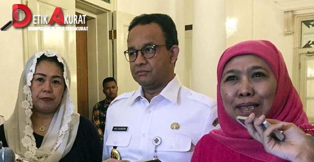 Khofifah dan Yenny Wahid Temui Anies