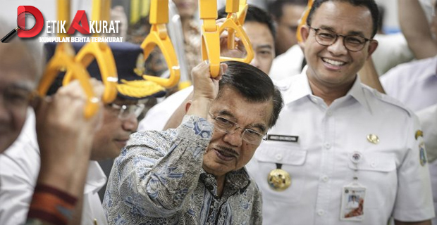Wapres JK Pastikan MRT Jakarta Beroperasi Maret 2019