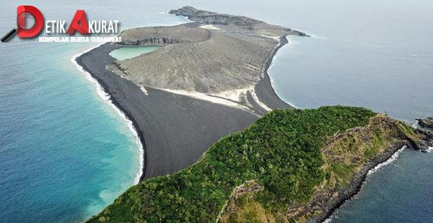 Pulau Baru Hasil Letusan