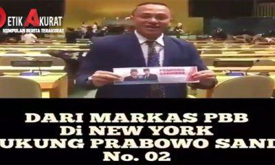 Dukungan untuk Prabowo dari Ruang Sidang PBB