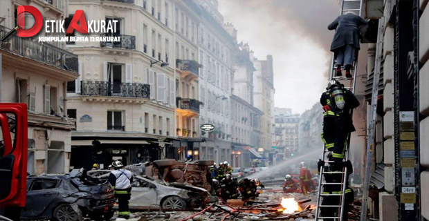Toko Roti Terbakar di Perancis