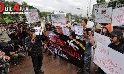 Aksi protes pemberian remisi terhadap Nyoman Susrama,