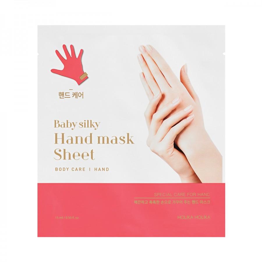 2. HolikaHolika Baby Silky Hand Mask Sheet